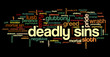 Постер, плакат: Tag cloud related to seven deadly sins