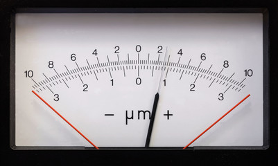 Rectangular measurement device retro style