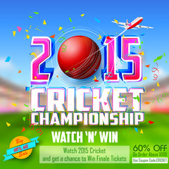 Sale and Promotion banner for Cricket season