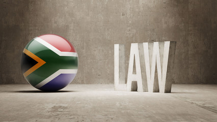 South Africa. Law Concept.