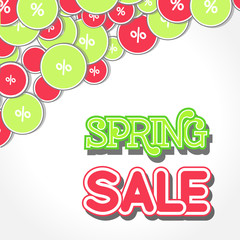 Spring Sale Design Illustration