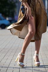 Legs of beautiful girl in high heels