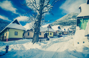 Historical village Vlkolinec, Slovakia