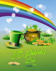 St. Patrick's Day - vector greeting card