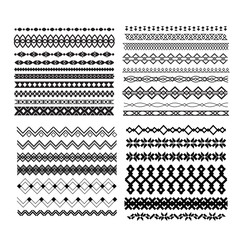 Set of vector borders and lines. Design geometric elements