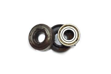 Metal bearing. Photo.