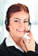 Call center operator. Customer support. Helpdesk