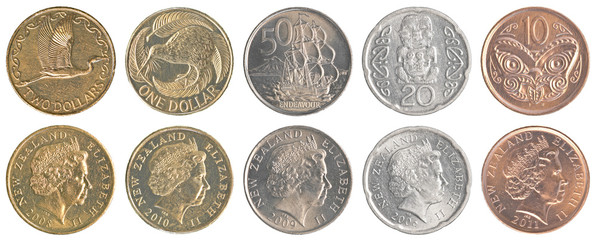 New Zealand dollar coins collection set