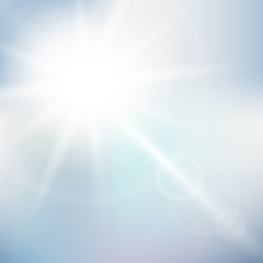 Nature sunny sky background