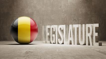 Belgium. Legislature Concept.