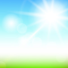 Nature sunny abstract summer background