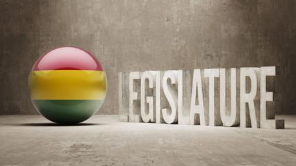Bolivia. Legislature Concept.