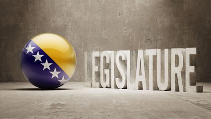 Bosnia and Herzegovina. Legislature Concept.