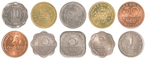 sri lankan rupee coins collection set