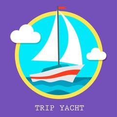 yacht club team vector art