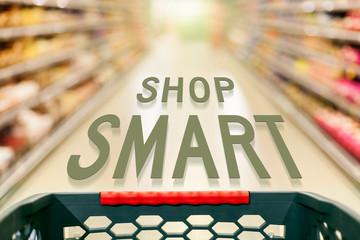 Shopping concept shop smart in supermarket