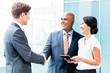 CEO and executive business handshake