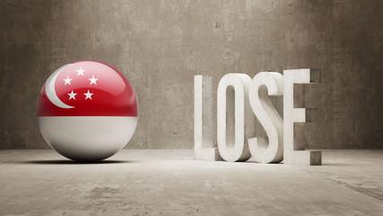 Singapore Lose Concept.
