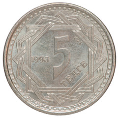 Kazakh tenge coin