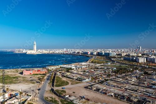 Tuinposter Marokko City panorama. Casablanca, Morocco. Africa