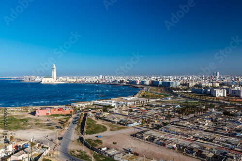 City panorama. Casablanca, Morocco.  Africa Poster