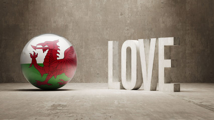 Wales. Love Concept.