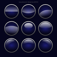 Glossy Buttons (Midnight Blue)