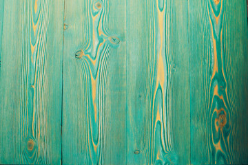 Turquoise colored wooden table