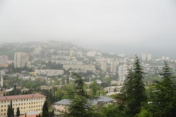 Ялта в тумане