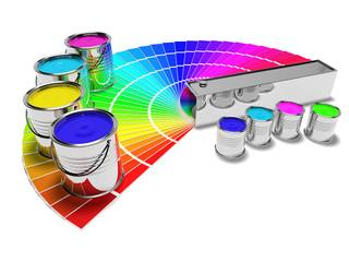 Color Paint and Color Cartela