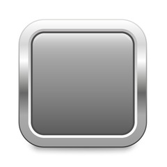 light gray metallic button square template