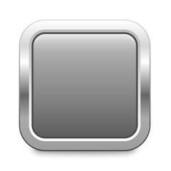 light gray metallic button square template