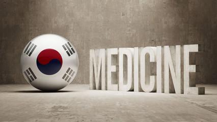 South Korea. Medicine Concept.