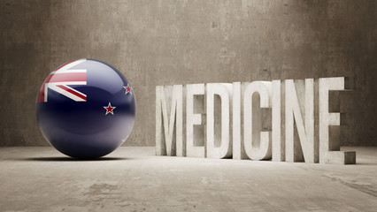 New Zealand. Medicine Concept.