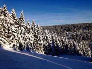 skipiste in einer skiregion
