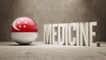 Singapore Medicine Concept.