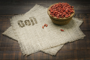 dry red goji berries for a healthy diet