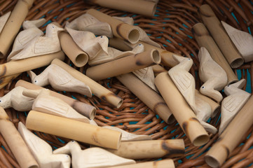 Wooden whistles
