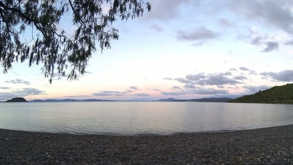 Time Lapse Sunset at Lake Taupo in New Zealand