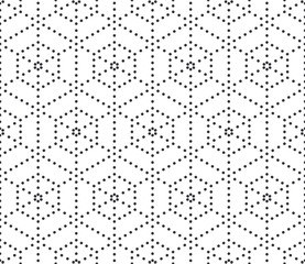 Abstract black and white seamless geometric pattern