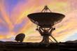 Leinwanddruck Bild - Picture of Radio Telescopes