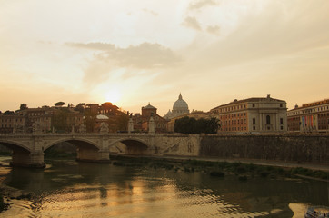 Rome on sunset