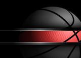Fototapety Basketball on black background