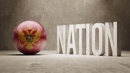 Montenegro. Nation Concept.