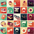 Collection of retro hipster elements, vector illustration