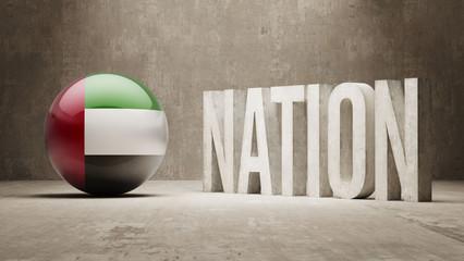 United Arab Emirates. Nation Concept.