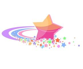 Цветной клипарт звезды