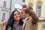 Fototapety Selfie eines Paares