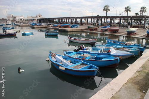 canvas print picture Fischerhafen Bari