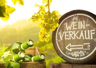 Weinverkauf im Weinberg